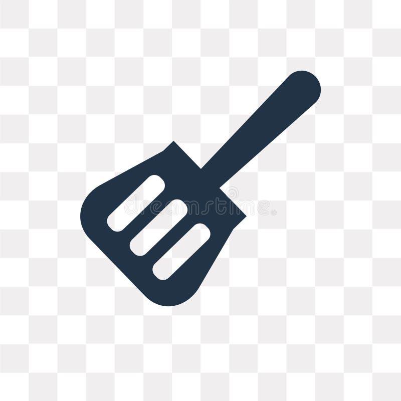 Icône de vecteur d'ustensile de spatule d'isolement sur le fond transparent, illustration stock