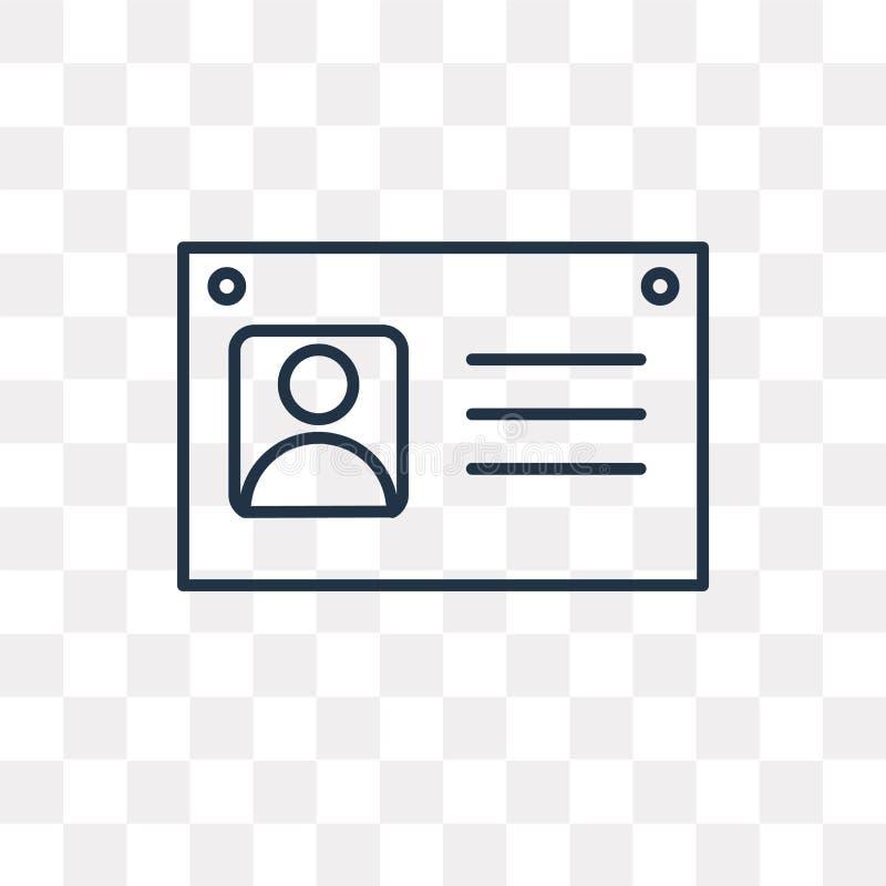 Icône de vecteur d'utilisateur d'isolement sur le fond transparent, utilisateur linéaire illustration de vecteur