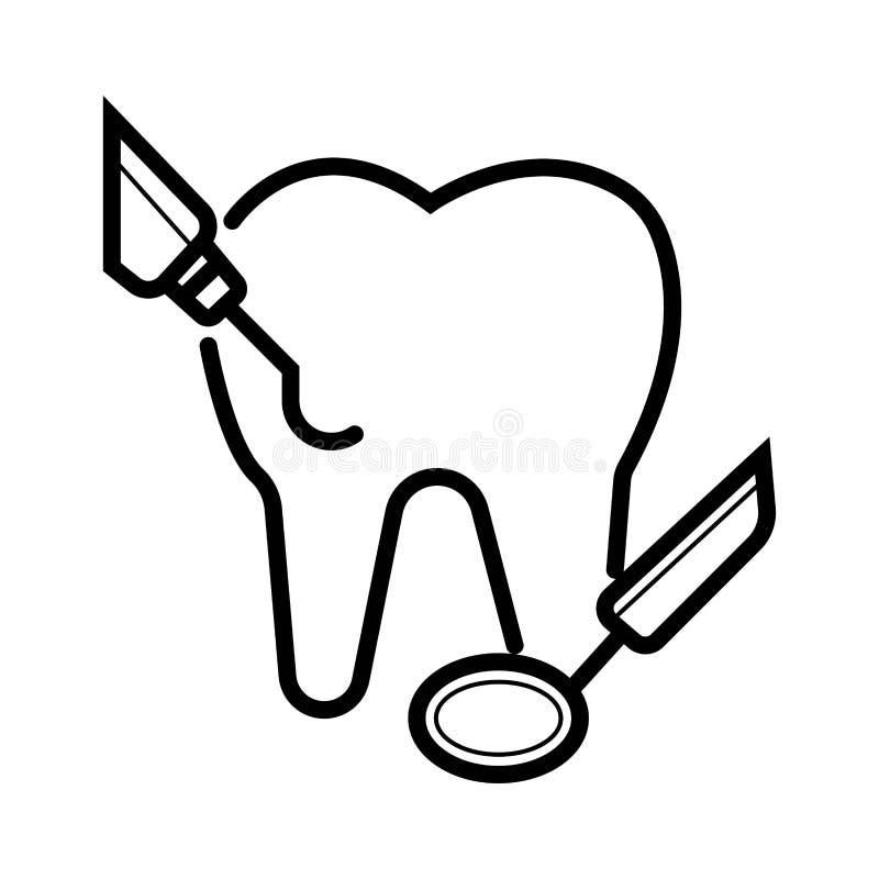 Icône de vecteur de dentiste illustration libre de droits