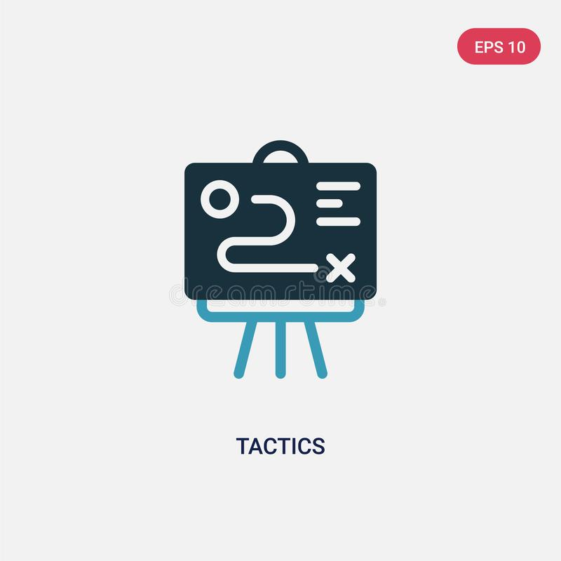 Icône de vecteur des deux tactique de couleur de concept de productivité le symbole bleu d'isolement de signe de vecteur de la ta illustration stock