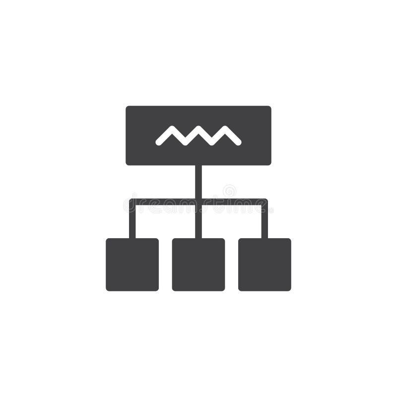 Icône de vecteur de diagramme illustration de vecteur