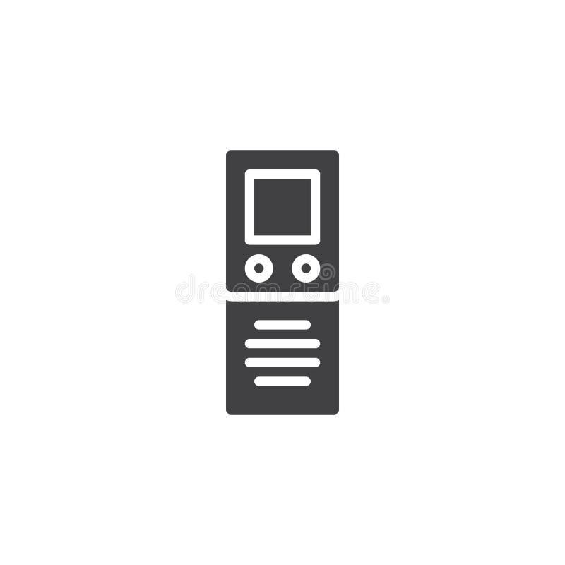Icône de vecteur de dictaphone de Digital illustration libre de droits