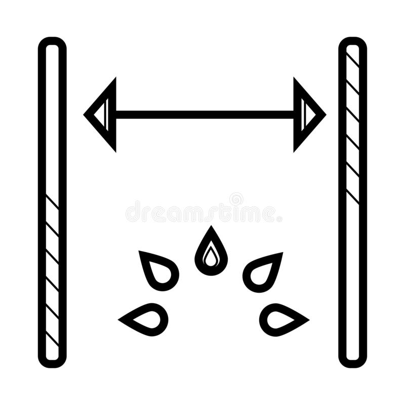 Icône de vecteur de dimensions illustration stock