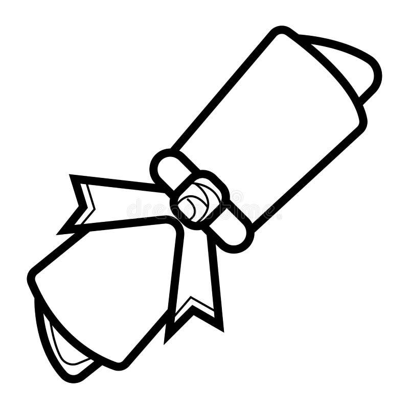 Icône de vecteur de diplôme illustration libre de droits