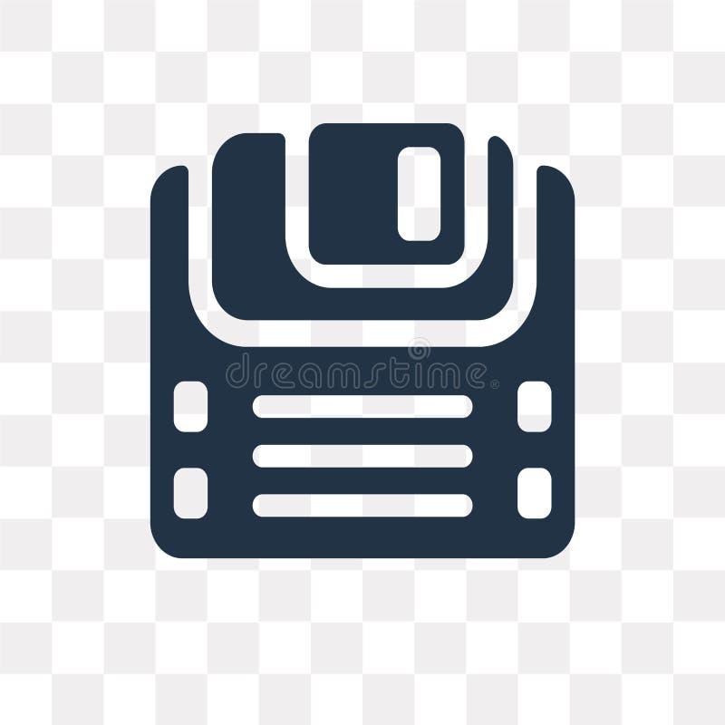 Icône de vecteur de disquette d'isolement sur le fond transparent, Diskett illustration libre de droits