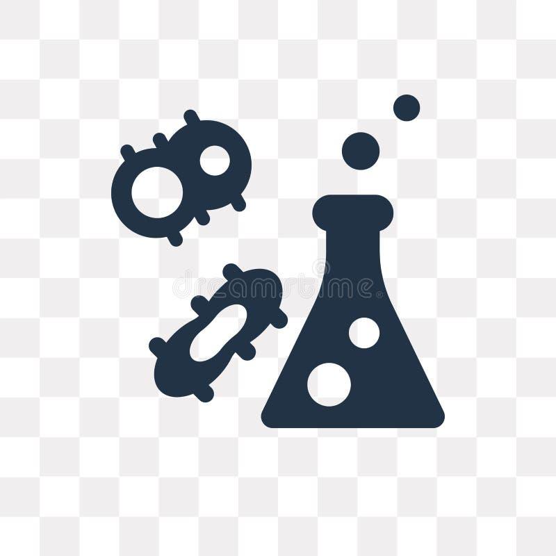 Icône de vecteur de division cellulaire d'isolement sur le fond transparent, ce illustration stock