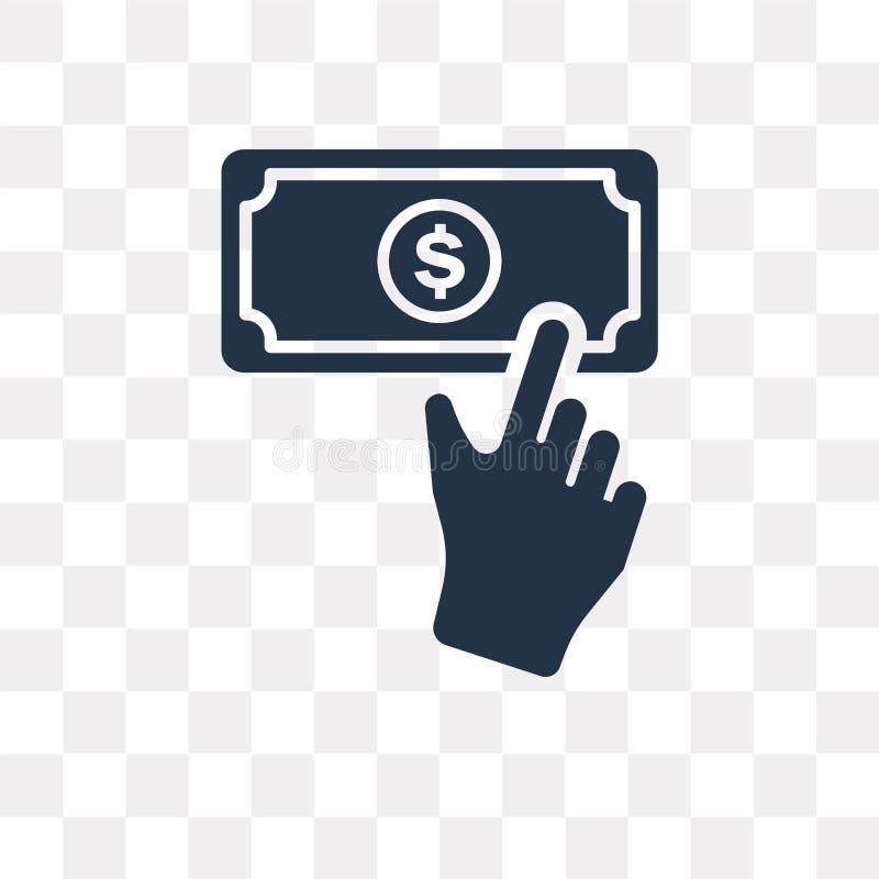 Icône de vecteur de donation d'isolement sur le fond transparent, Donatio illustration libre de droits