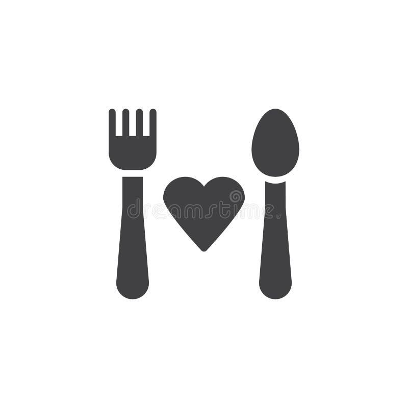 Icône de vecteur de donation de nourriture illustration libre de droits