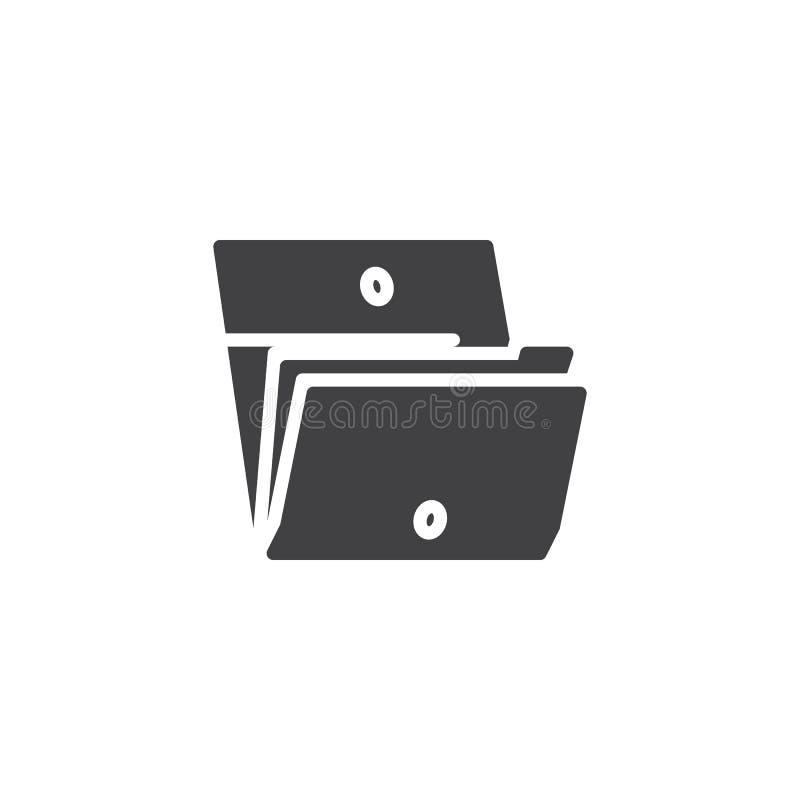 Icône de vecteur de dossier de dossiers illustration libre de droits