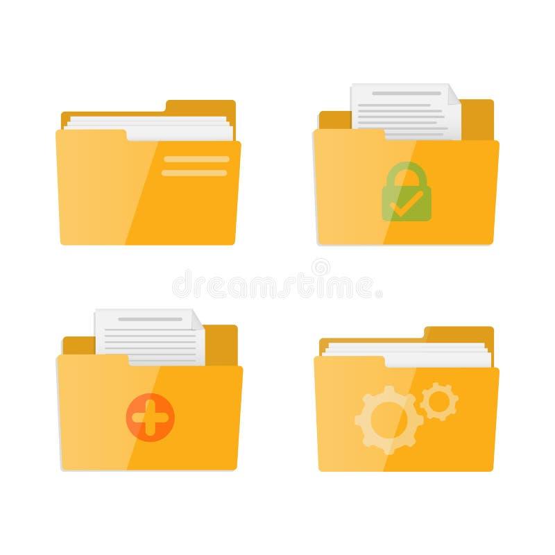 Icône de vecteur de dossier Le style plat a isolé l'illustration de vecteur sur le fond blanc illustration de vecteur