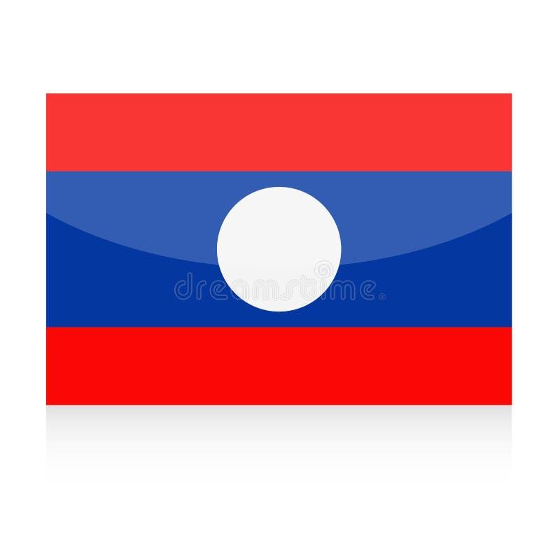 Icône de vecteur de drapeau du Laos illustration libre de droits