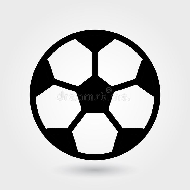 Icône de vecteur du football, icône de ballon de football, symbole de boule de sports Glyph moderne et simple, illustration solid illustration stock