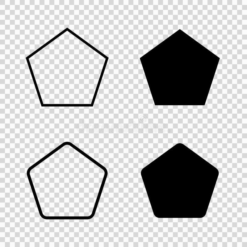 Icône de vecteur du Pentagone illustration stock