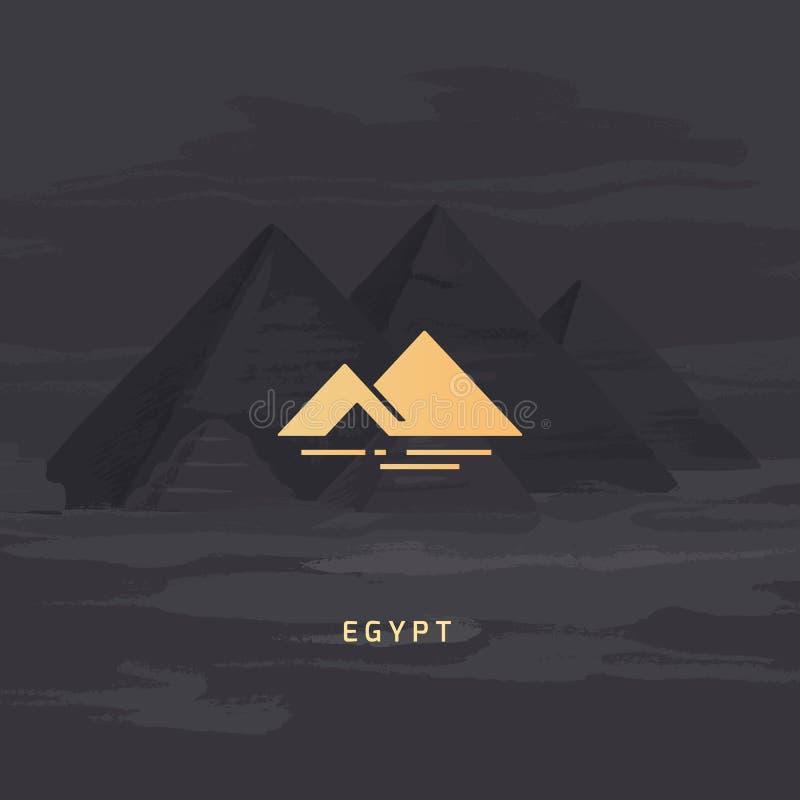 Icône de vecteur du symbole le plus célèbre de l'Egypte - la pyramide illustration de vecteur