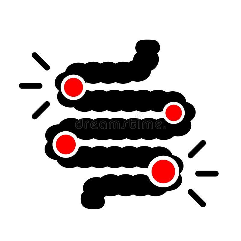 Icône de vecteur de dysbiosis de deux points illustration de vecteur