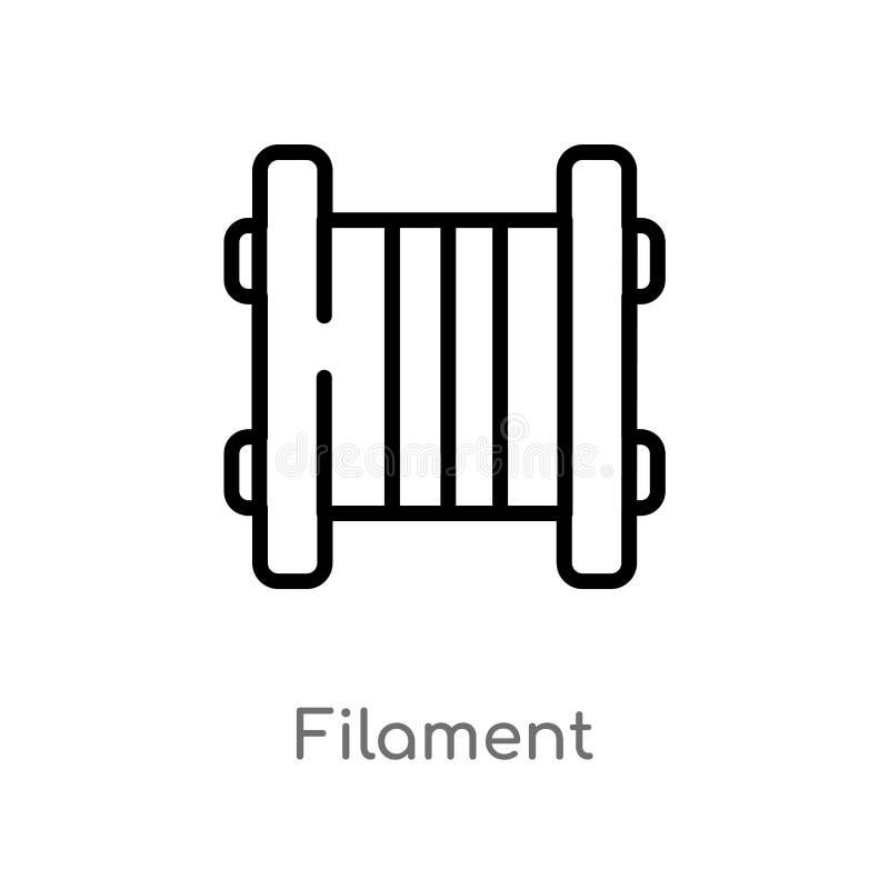ic?ne de vecteur de filament d'ensemble ligne simple noire d'isolement illustration d'?l?ment du concept general-1 Course Editabl illustration libre de droits
