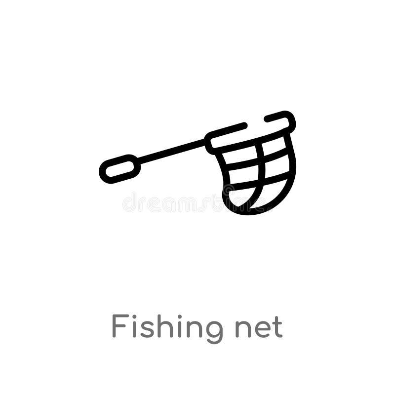icône de vecteur de filet de pêche d'ensemble ligne simple noire d'isolement illustration d'?l?ment des sports et de concept de c illustration libre de droits