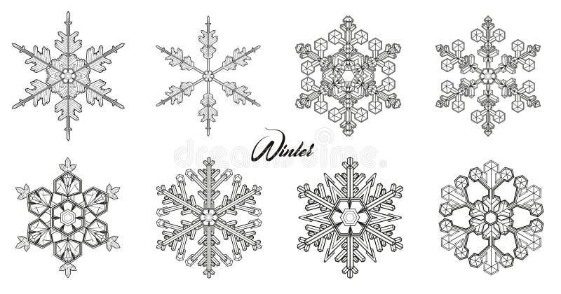 Icône de vecteur de flocon de neige illustration stock