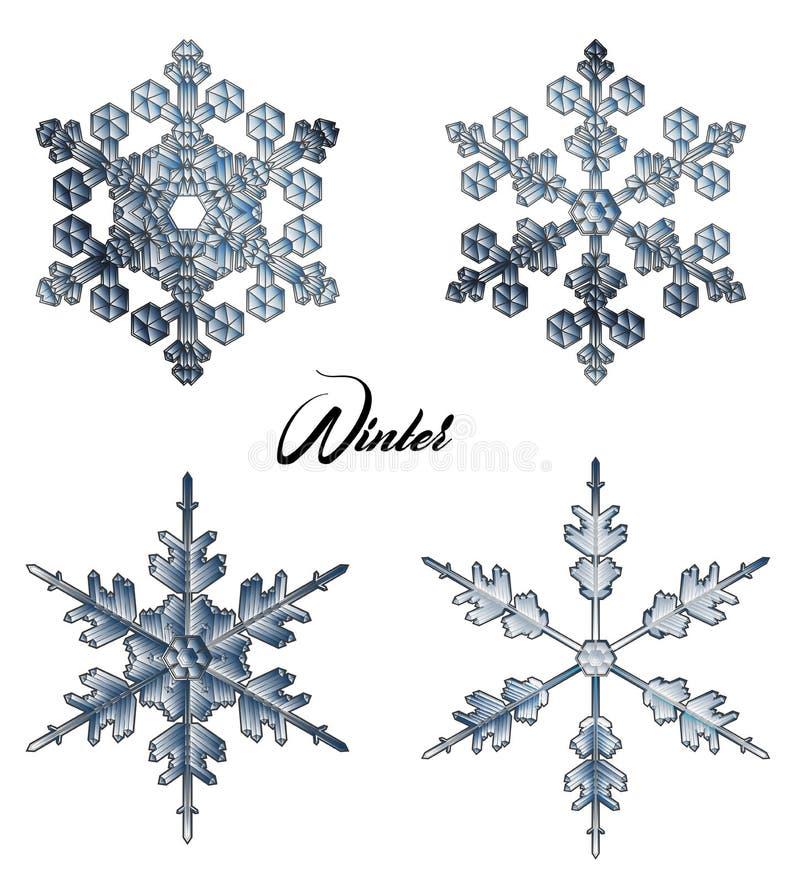 Icône de vecteur de flocon de neige illustration libre de droits