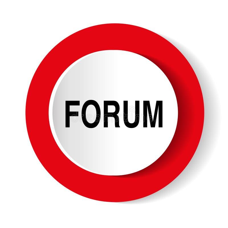 Icône de vecteur de forum Icône rouge ronde illustration libre de droits