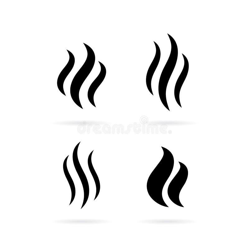Icône de vecteur de fumée de vapeur illustration libre de droits