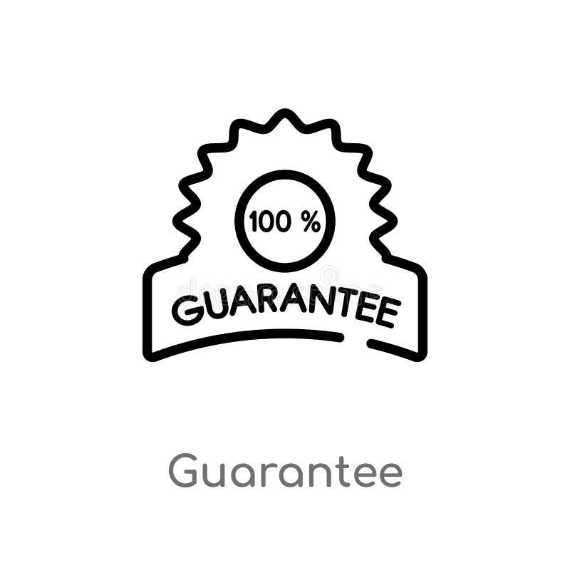icône de vecteur de garantie d'ensemble ligne simple noire d'isolement illustration d'élément de concept d'aliments de préparatio illustration de vecteur