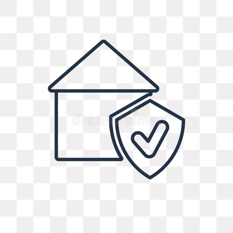 Icône de vecteur de garantie d'isolement sur le fond transparent, linéaire illustration stock