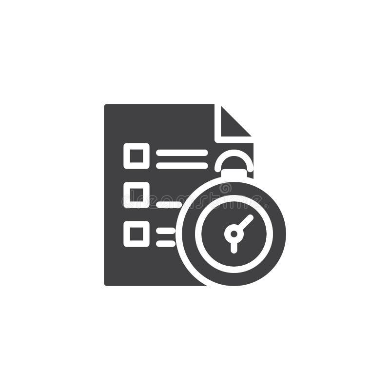 Icône de vecteur de gestion du temps illustration de vecteur