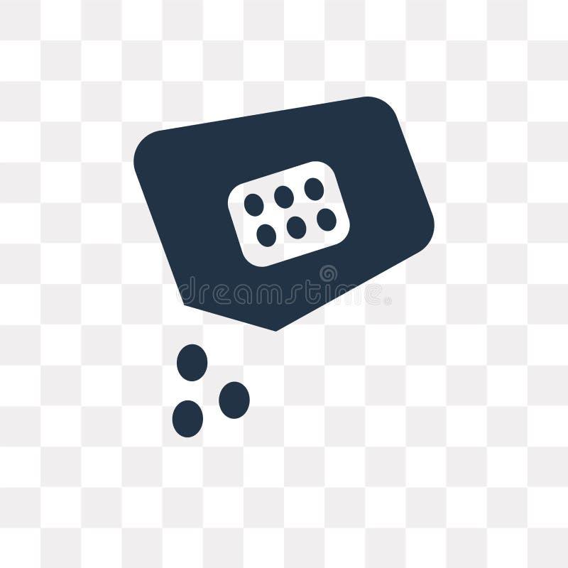 Icône de vecteur de graines d'isolement sur le fond transparent, tra de graines illustration stock