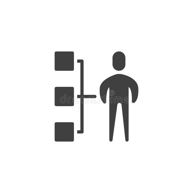 Icône de vecteur de hiérarchie d'affaires illustration de vecteur