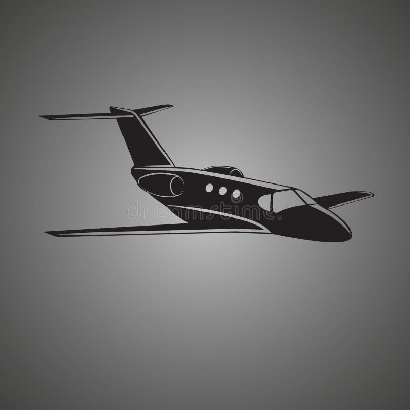 Icône de vecteur de jet privé Illustration d'avion d'affaires illustration stock