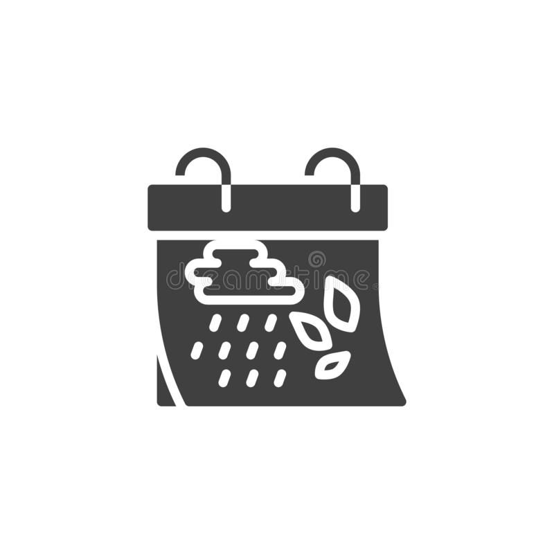Icône de vecteur de jour civil d'automne illustration de vecteur
