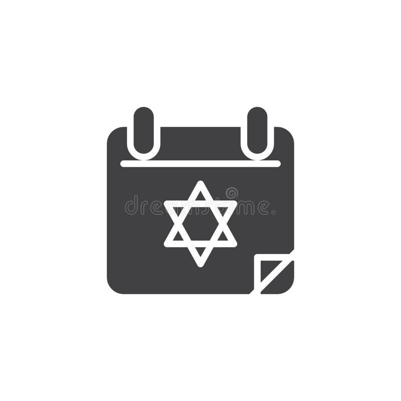 Icône de vecteur de jour civil de Hanoucca illustration libre de droits