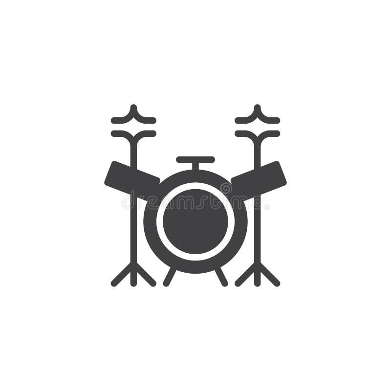 Icône de vecteur de kit de tambour illustration stock
