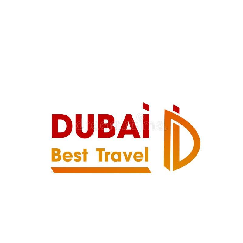 Icône de vecteur de la lettre D pour la société de voyage de Dubaï illustration stock