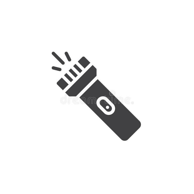 Icône de vecteur de lampe-torche de poche illustration de vecteur