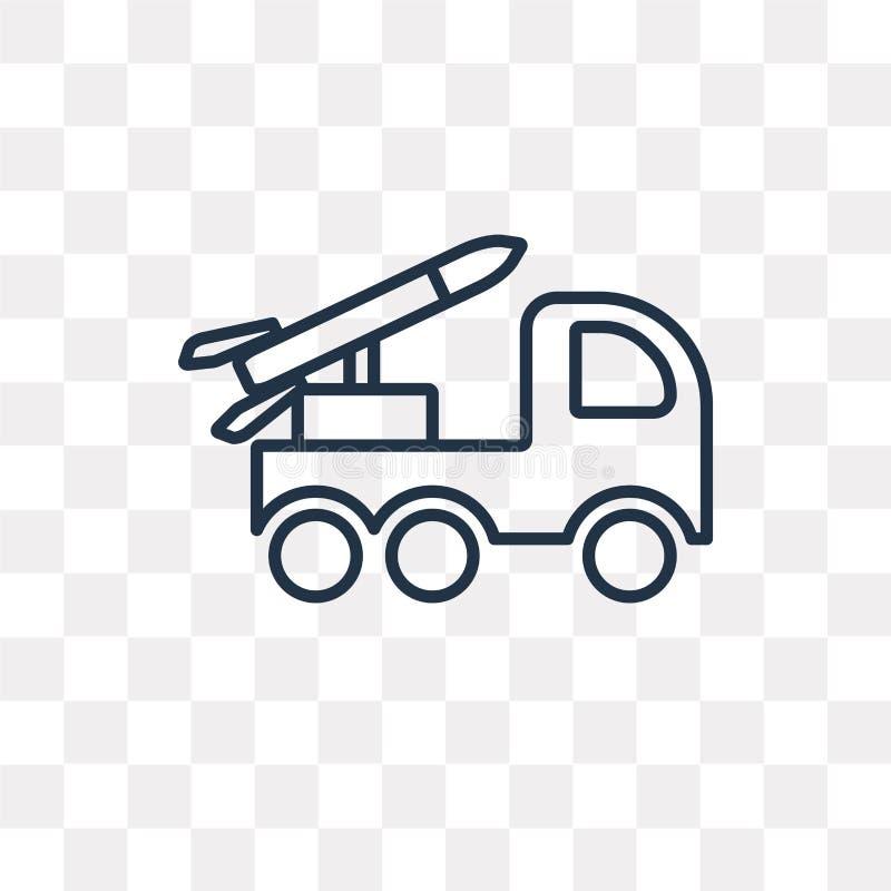 Icône de vecteur de lanceur d'isolement sur le fond transparent, linéaire illustration stock