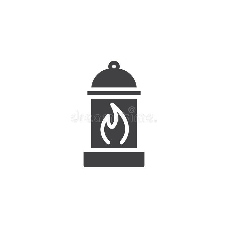 Icône de vecteur de lanterne de camping illustration libre de droits