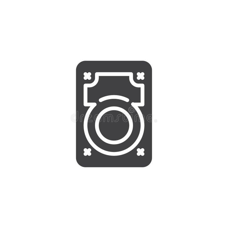 Icône de vecteur de lecteur de disque dur illustration stock