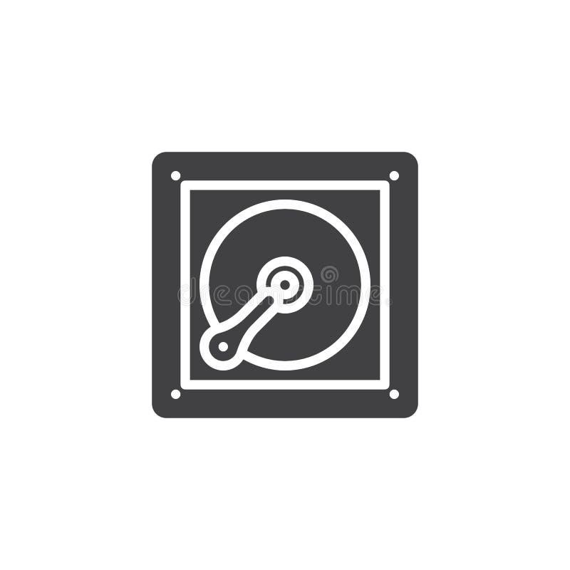 Icône de vecteur de lecteur de disque dur illustration de vecteur