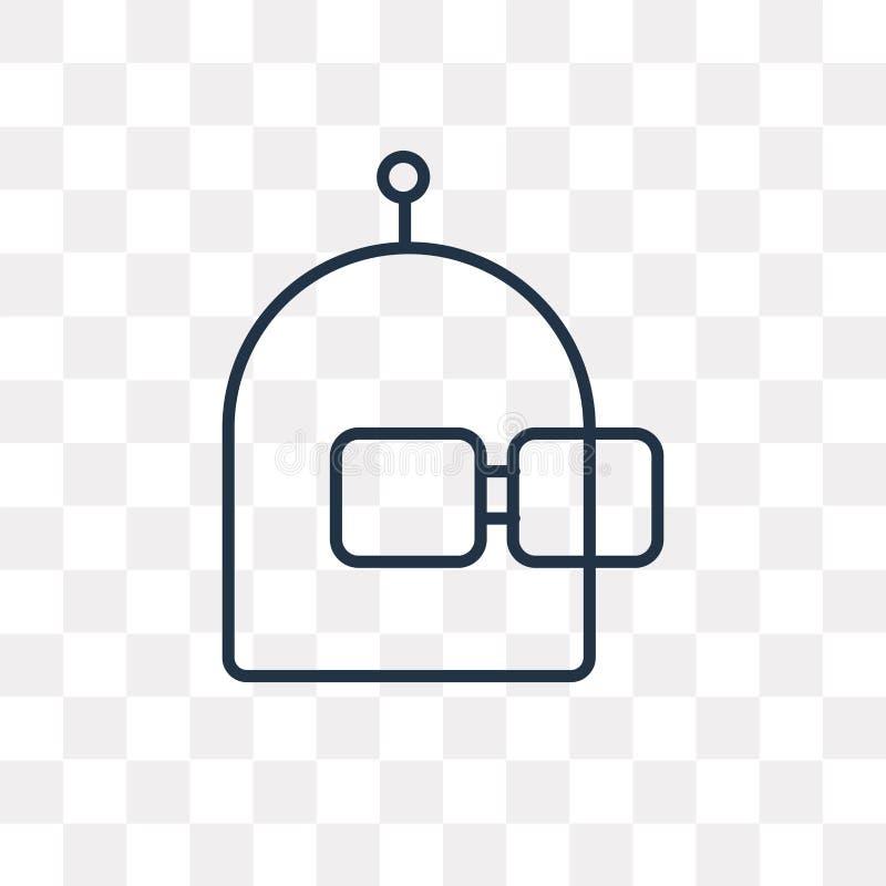 Icône de vecteur de liberté d'isolement sur le fond transparent, F linéaire illustration libre de droits