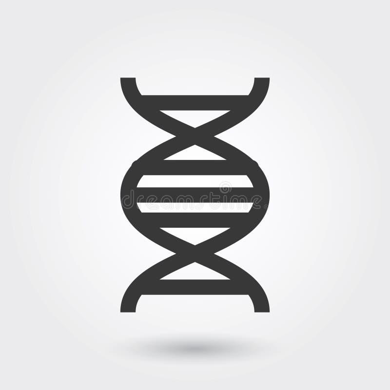 Icône de vecteur, ligne style médicale d'icône d'ADN pour tous buts illustration de vecteur