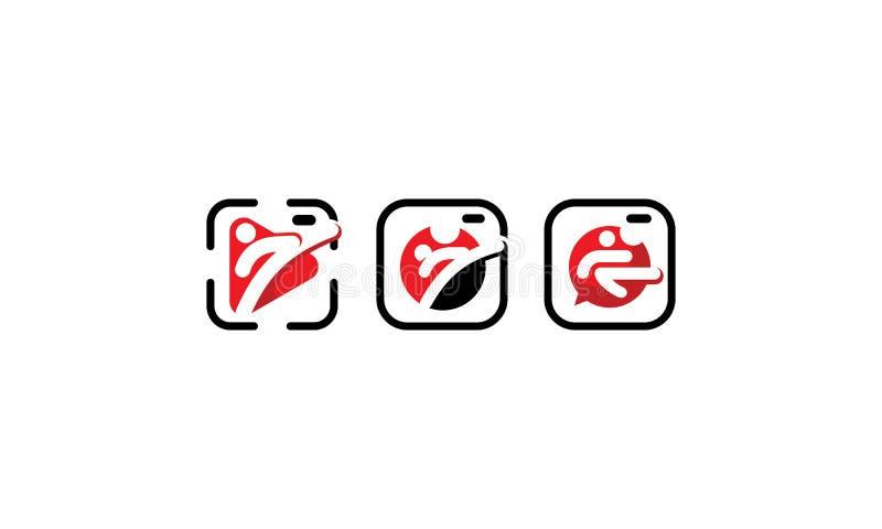 Icône de vecteur de logo d'arts martiaux illustration stock