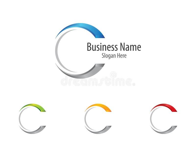Icône de vecteur de logo de lettre de C illustration libre de droits