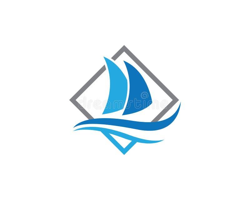 Icône de vecteur de Logo Template de bateau de croisière illustration stock