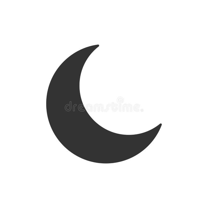 Icône de vecteur de lune de nuit dans le style plat Illustrati lunaire de nuit illustration libre de droits