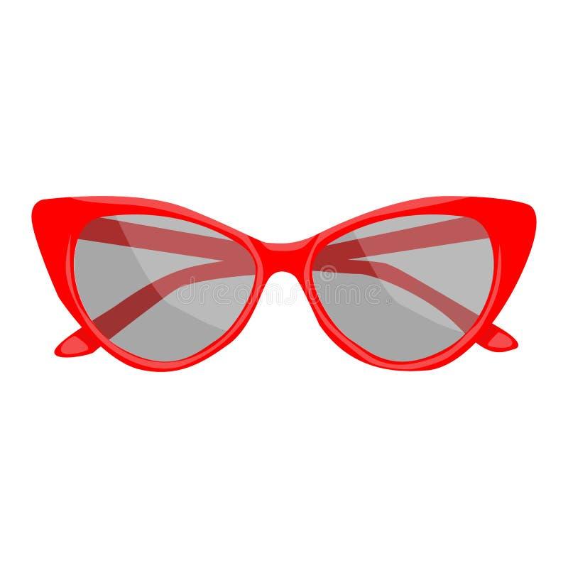 Icône de vecteur de lunettes de soleil sur un fond blanc Illustration accessoire d'isolement sur le blanc Conception réaliste de  illustration libre de droits
