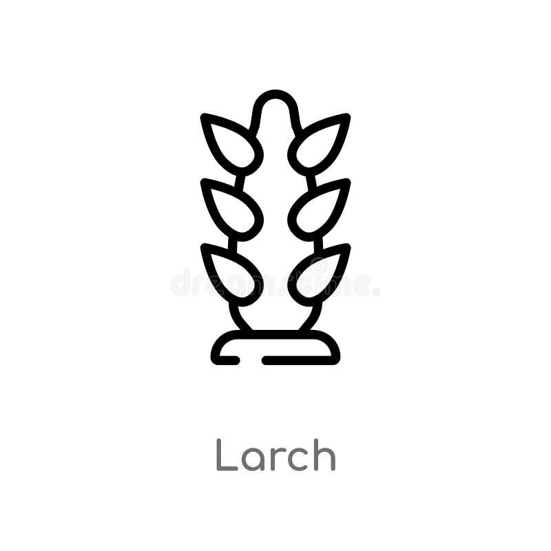 icône de vecteur de mélèze d'ensemble ligne simple noire d'isolement illustration d'élément de concept de nature icône editable d illustration libre de droits