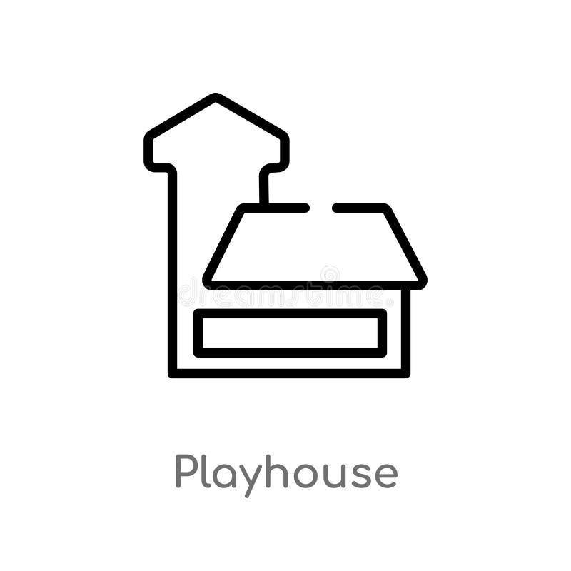 icône de vecteur de maison de théâtre d'ensemble r Course Editable de vecteur illustration stock