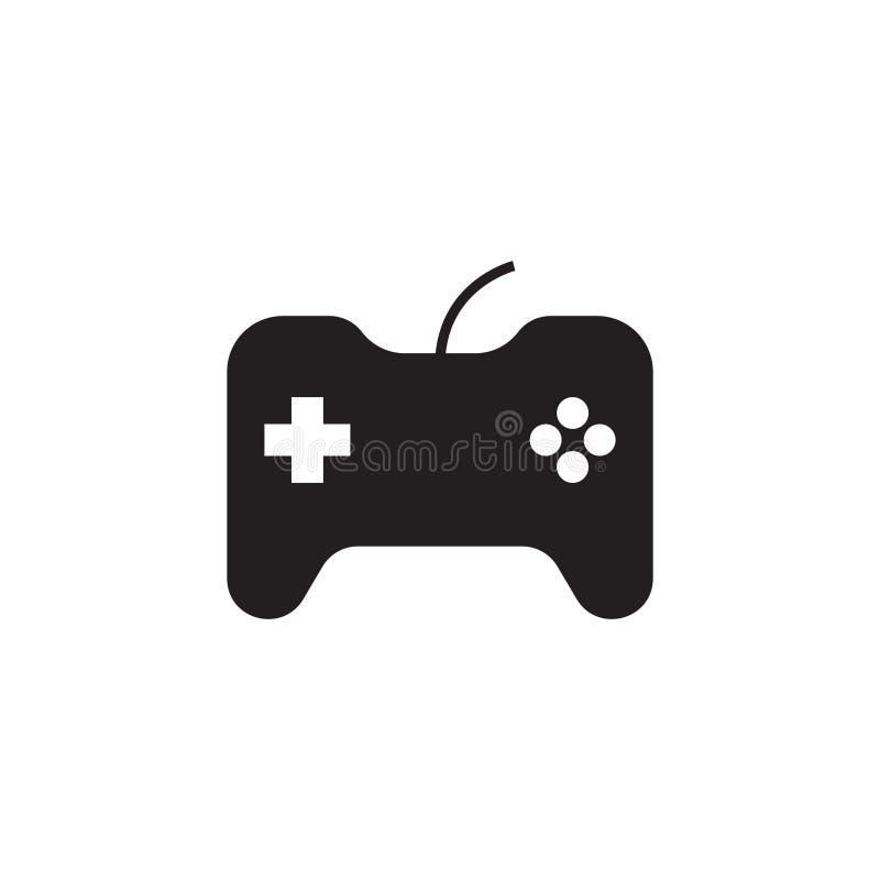 Icône de vecteur de manette, symbole de console de jeu Conception simple et plate pour le Web ou appli mobile illustration stock